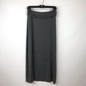 J. Crew Dark Heather Gray Jersey Knit Long Skirt